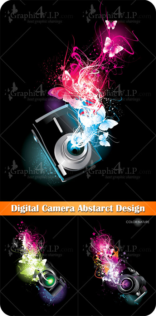 Digital Camera Abstarct Design - Stock Vectors