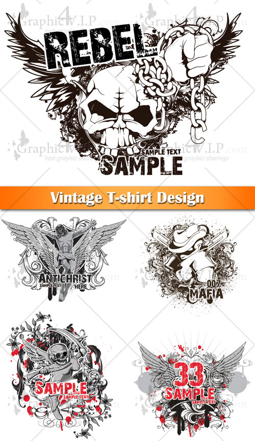 Vintage T-shirt Design - Stock Vectors