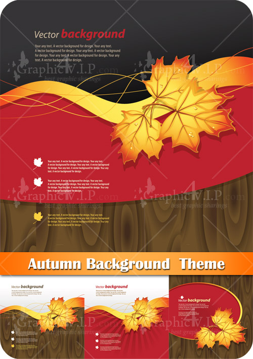 Autumn Background Theme - Stock Vectors