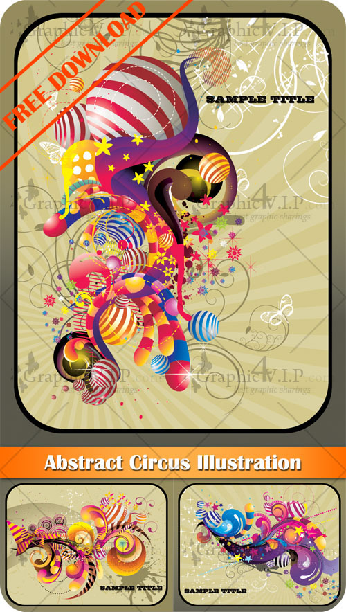Abstract Circus Illustration - Stock Vectors