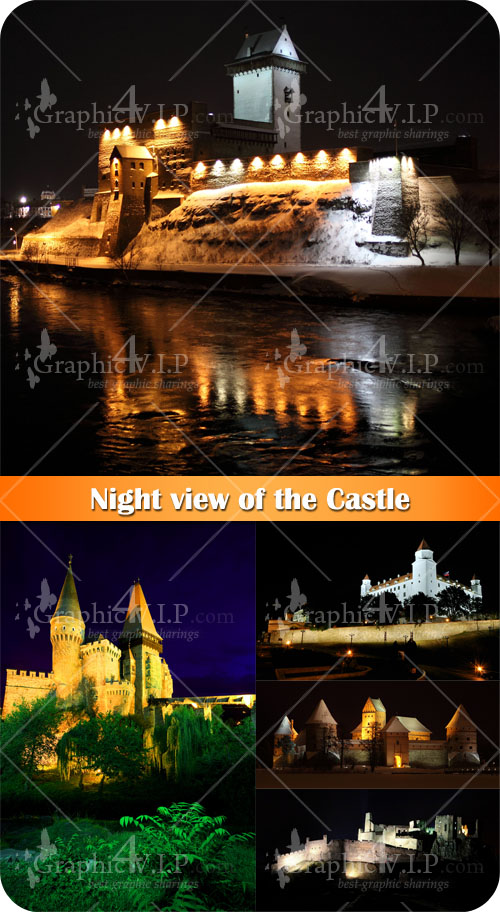 Night view of the Castle - Stock Photos