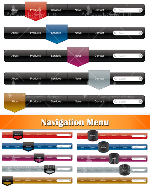 Navigation Menu - Stock Vectors