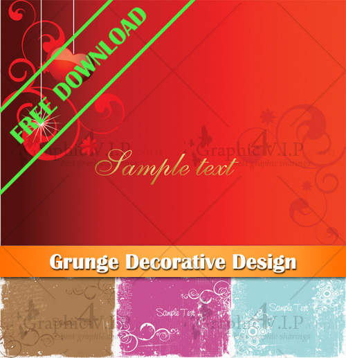 Grunge Decorative Design - Stock Vectors