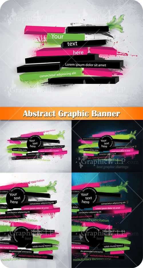 Abstract Graphic Banner - Stock Vectors