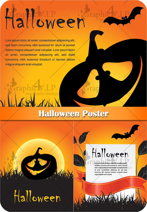 Halloween Poster - Stock Vectors