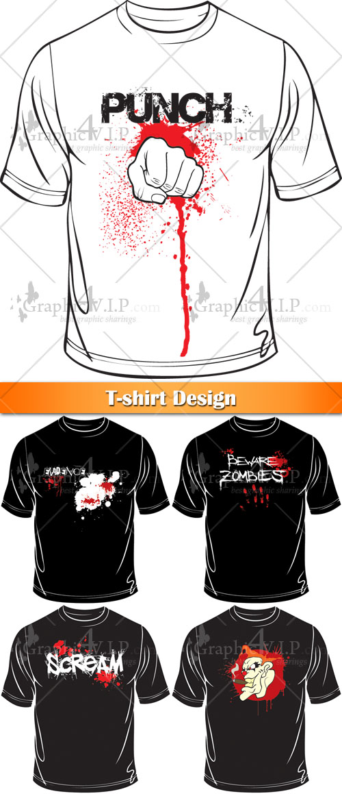 T-shirt Design - Stock Vectors