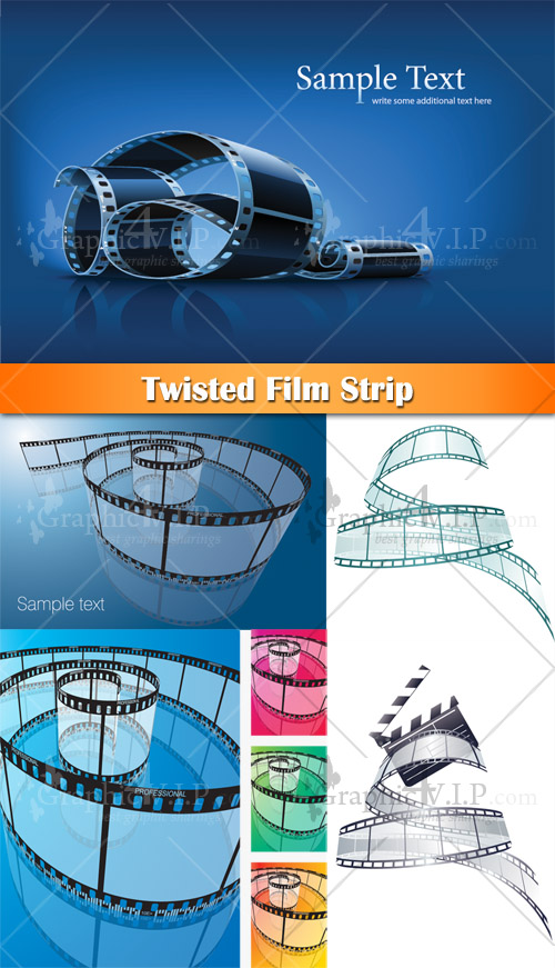 Twisted Film Strip - Stock Vectors
