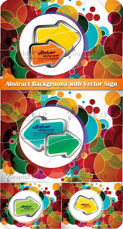 Abstract Background with Vector Sign - Stock Vectors