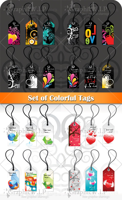 Set of Colorful Tags - Stock Vectors