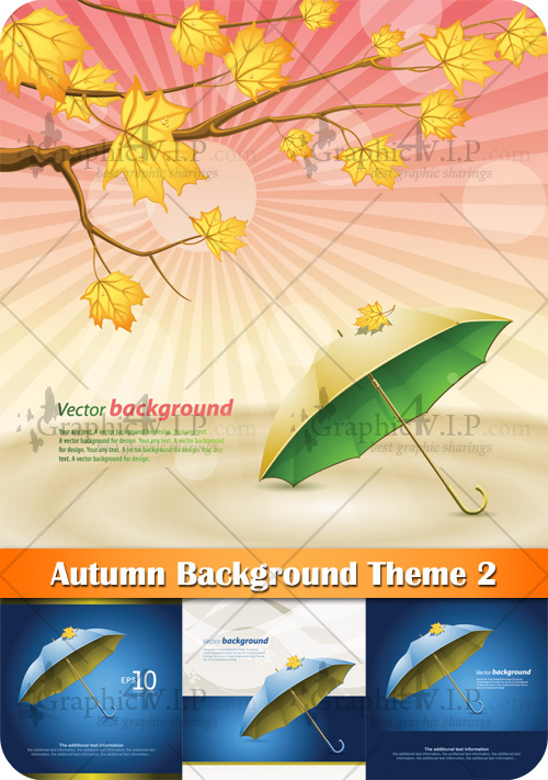 Autumn Background Theme 2 - Stock Vectors