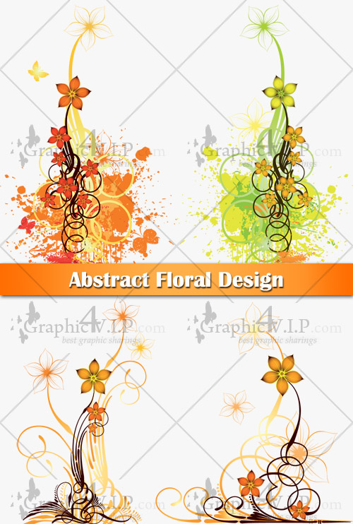 Abstract Floral Design - Stock Vectors