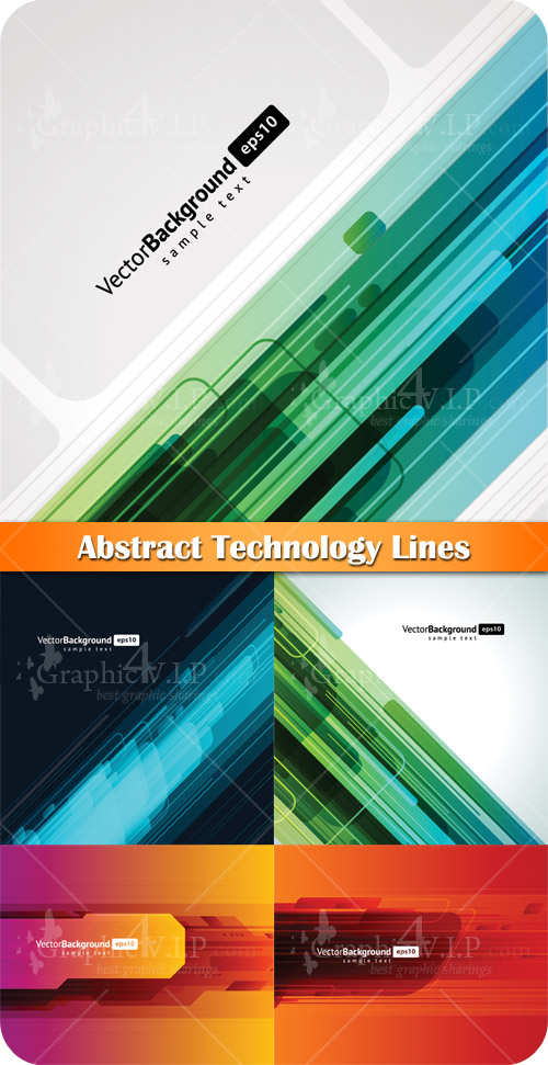 Abstract Technology Lines - Stock Vectors