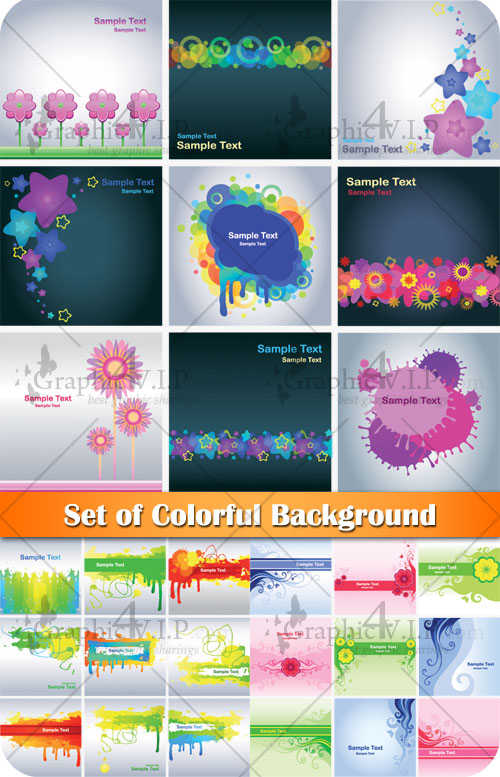 Set of Colorful Background - Stock Vectors