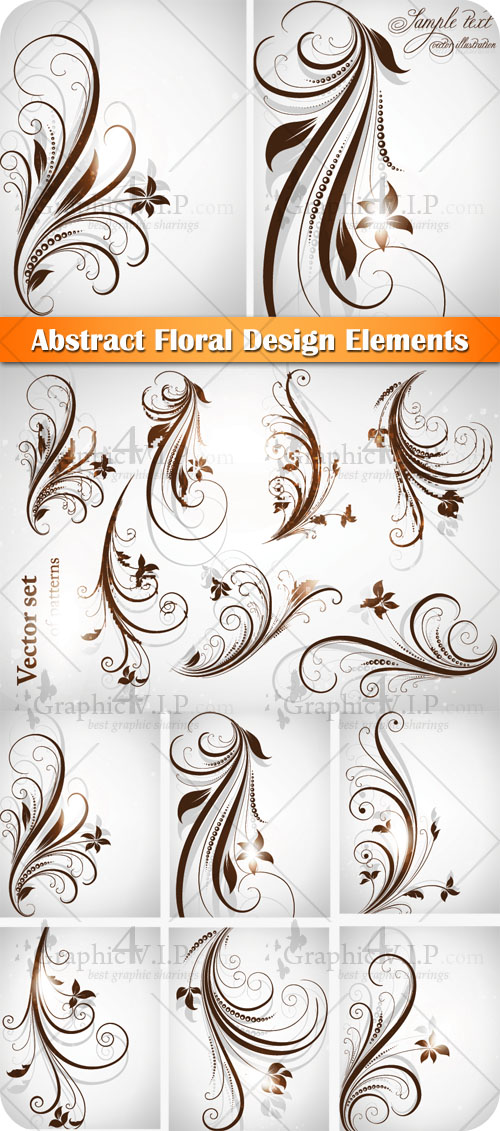 Abstract Floral Design Elements - Stock Vectors