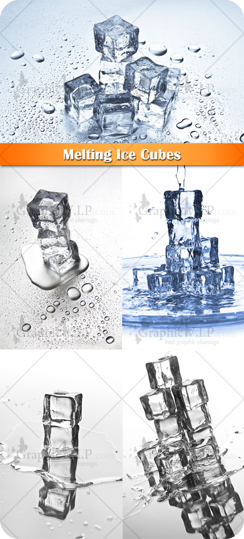 Melting Ice Cubes - Stock Photos