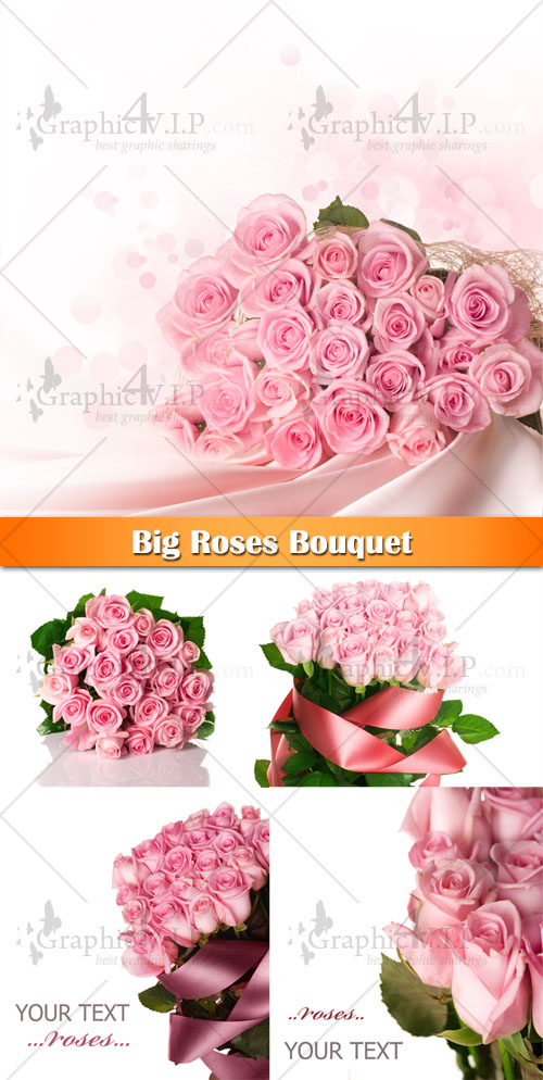 Big Roses Bouquet - Stock Photos