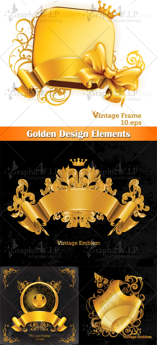 Golden Design Elements - Stock Vectors