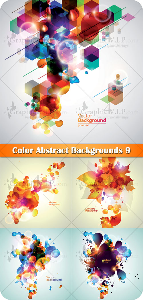 Color Abstract Backgrounds 9 - Stock Vectors
