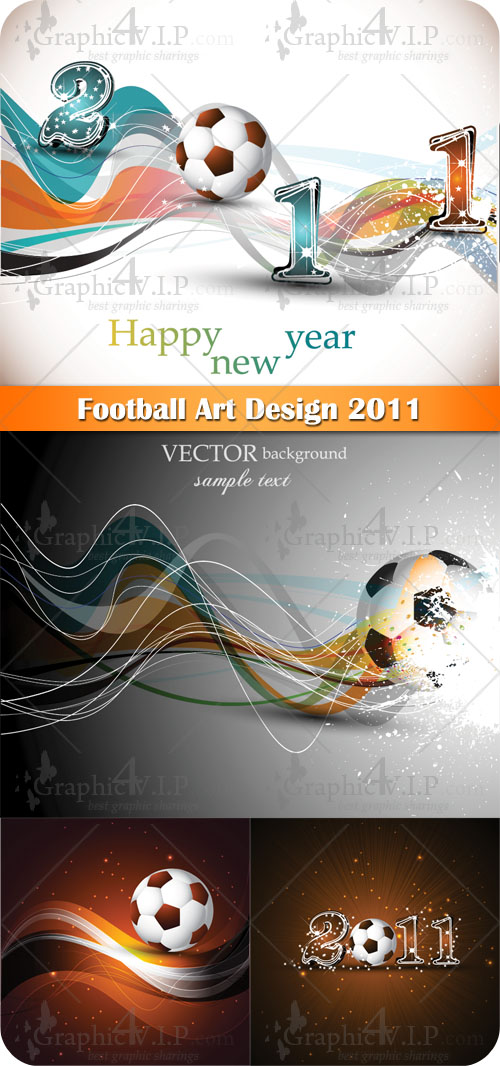 Football Art Design 2011 - Stock Vectors