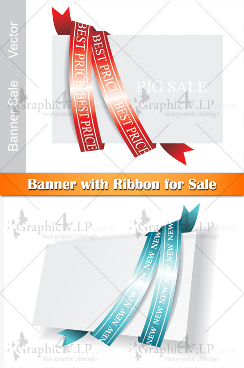 Banner with Ribbon for Sale - Stock Vectors