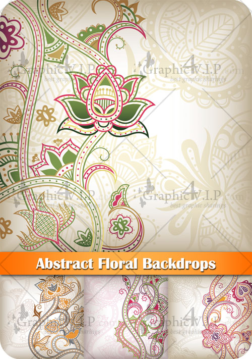 Abstract Floral Backdrops - Stock Vectors