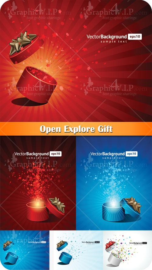 Open Explore Gift - Stock Vectors