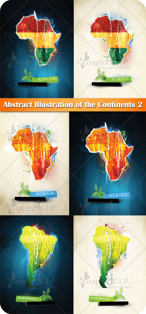 Abstract Illustration of the Continents 2 - Stock Vectors