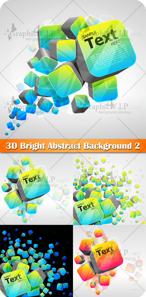 3D Bright Abstract Background 2 - Stock Vectors