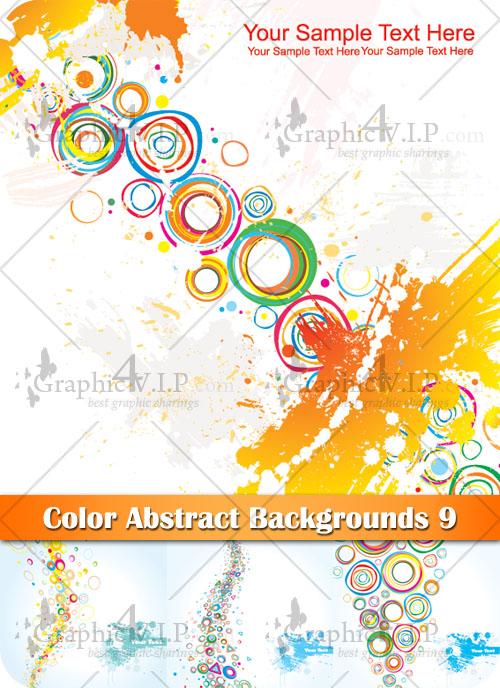 Color Abstract Backgrounds 10 - Stock Vectors