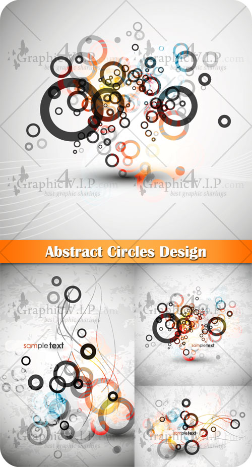 Abstract Circles Design - Stock Vectors