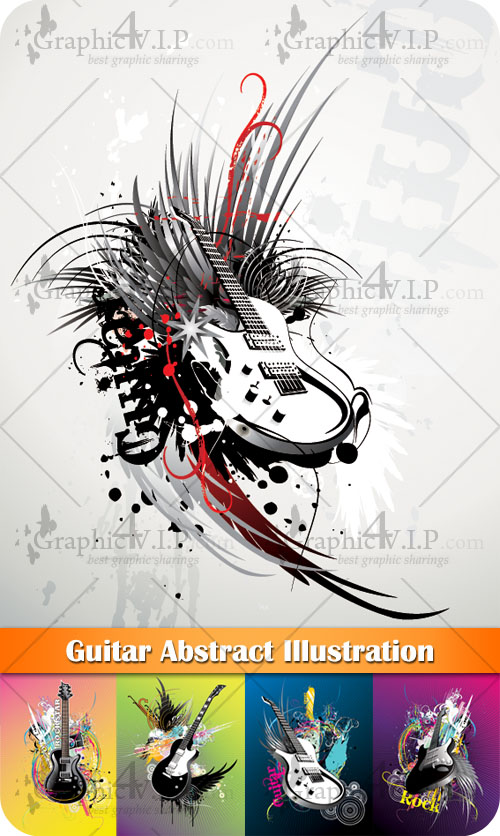 Guitar Abstract Illustration - Stock Vectors