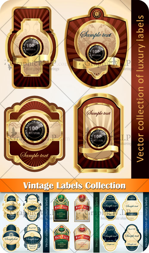 Vintage Labels Collection - Stock Vectors