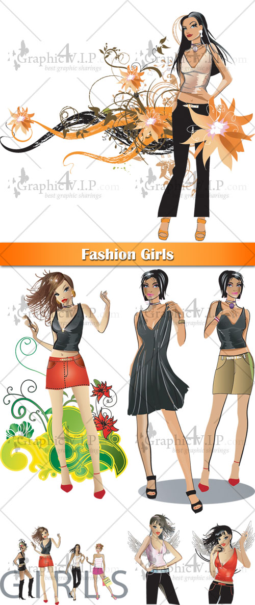 Fashion Girls - Stock Vectors