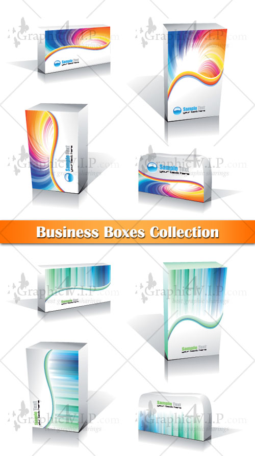 Business Boxes Collection - Stock Vectors
