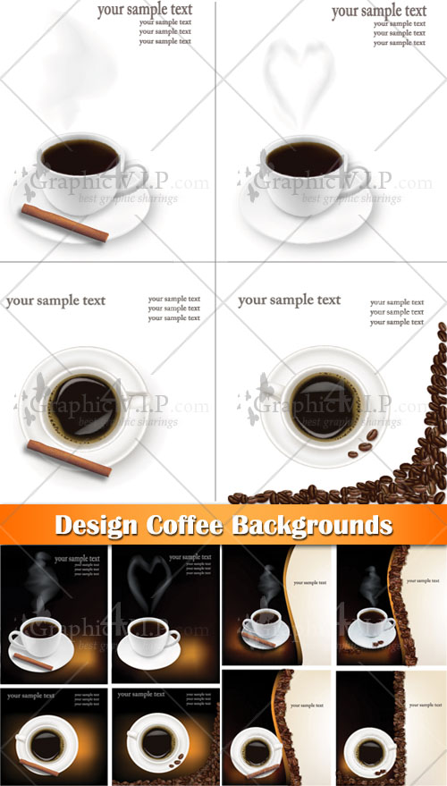 Design Coffee Backgrounds - Stock Vectors