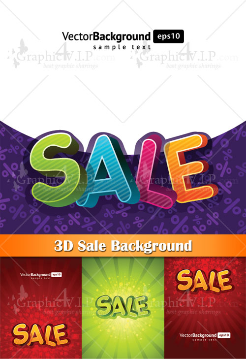 3D Sale Background - Stock Vectors
