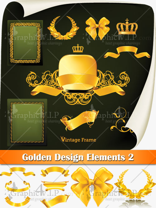 Golden Design Elements 2 - Stock Vectors