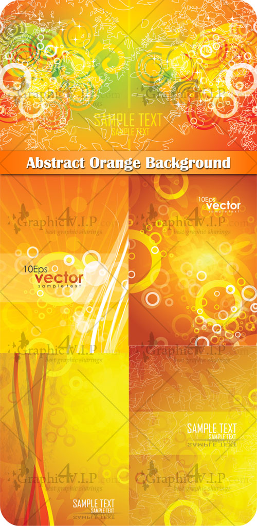 Abstract Orange Background - Stock Vectors