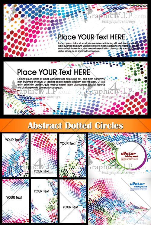 Abstract Dotted Circles - Stock Vectors