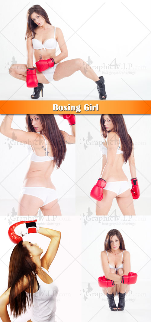 Boxing Girl - Stock Photos