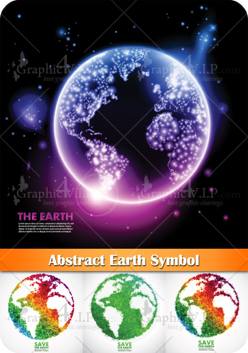 Abstract Earth Symbol - Stock Vectors