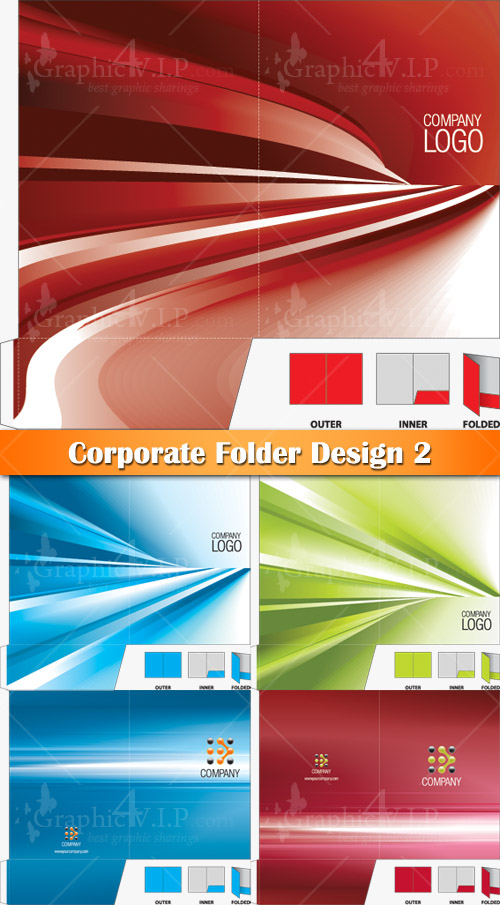 Corporate Folder Design 2 - Stock Vectors