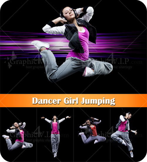 Dancer Girl Jumping - Stock Photos