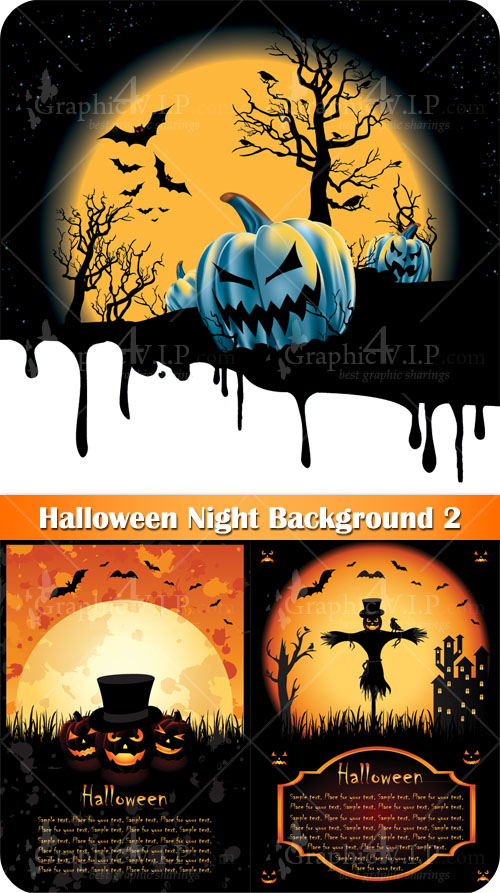Halloween Night Background 2 - Stock Vectors