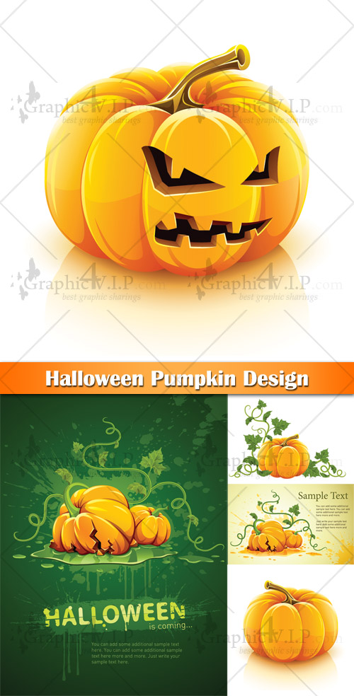 Halloween Pumpkin Design - Stock Vectors