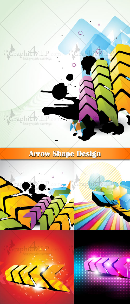 Arrow Shape Design - Stock Vectors