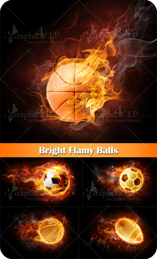 Bright Flamy Balls - Stock Photos
