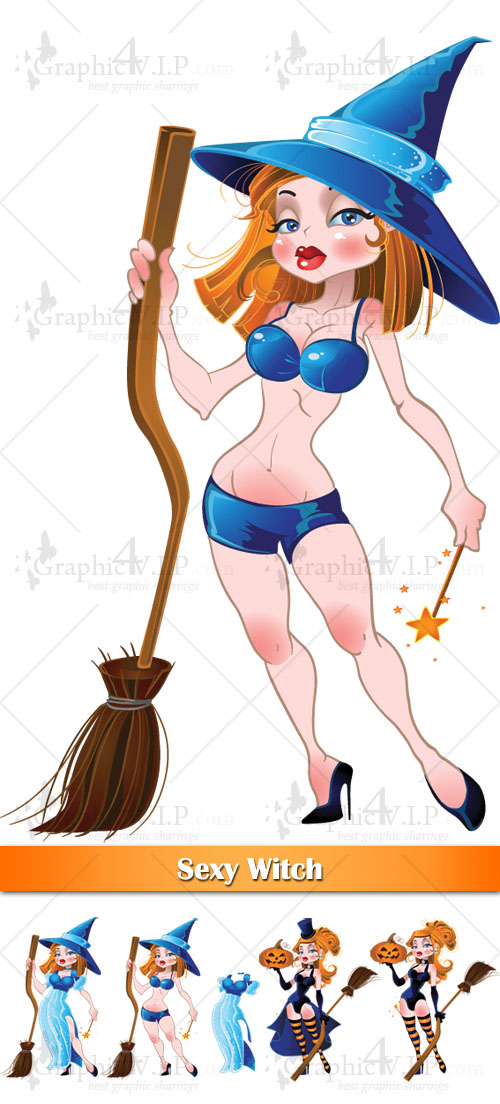 Sexy Witch - Stock Vectors