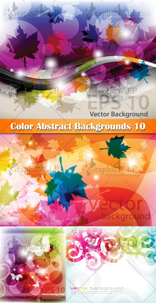 Color Abstract Backgrounds 11 - Stock Vectors