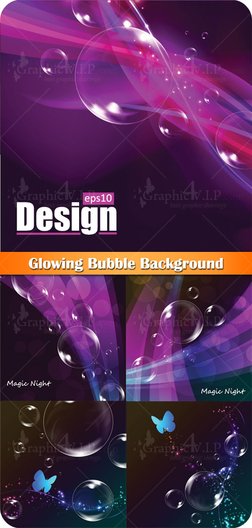 Glowing Bubble Background - Stock Vectors